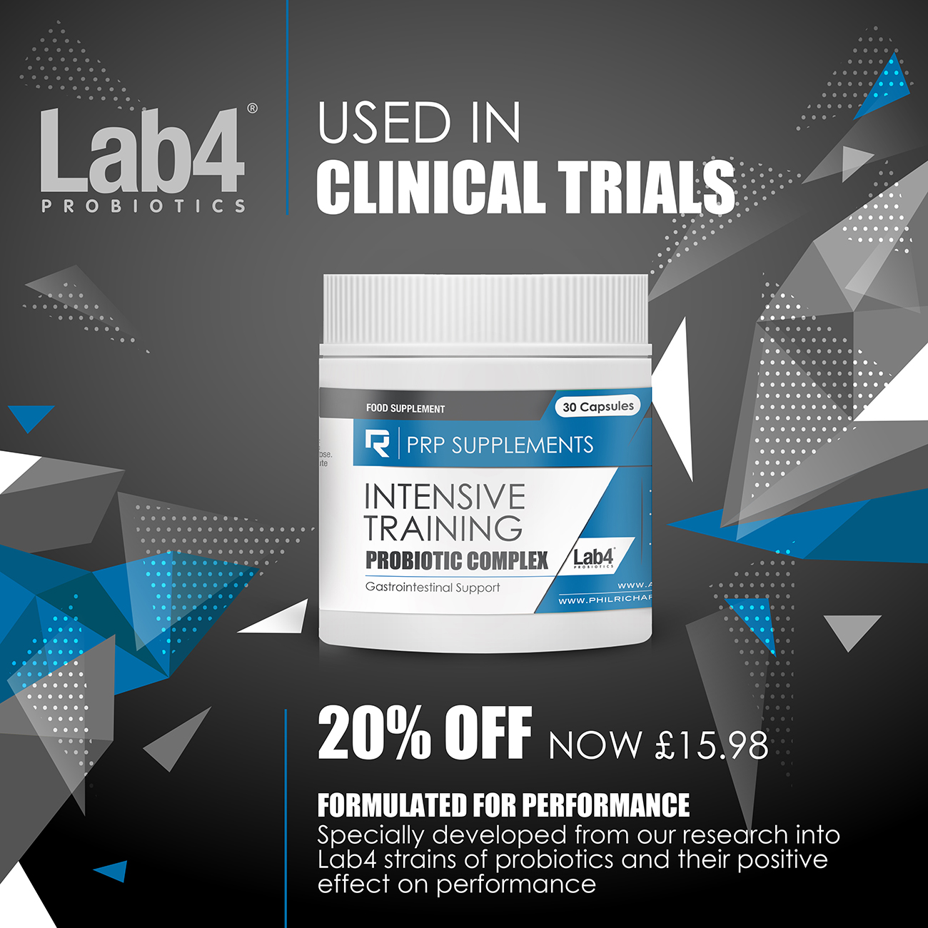lab4 intensive training sport probiotic